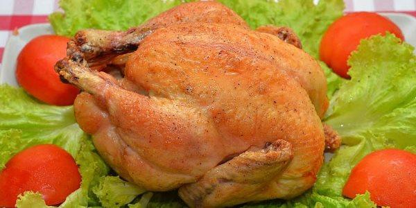 Запеченная в фольге курица