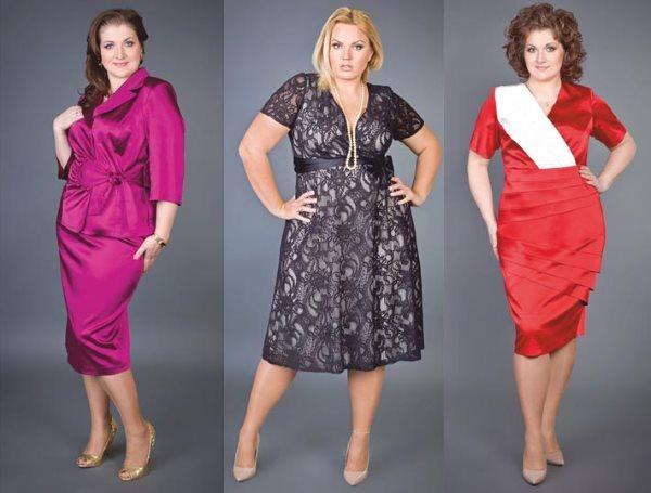 Платья на полных женщин