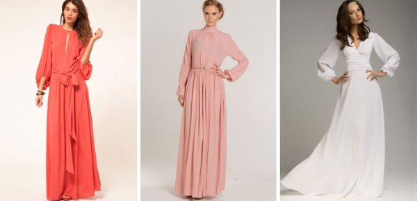 Дизайн платьев в пол