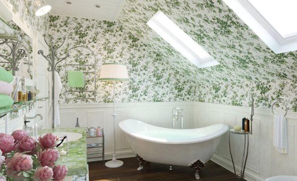 Травяные мотивы на стенах