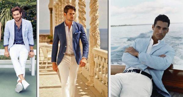 Белые джинсы для мужчин
