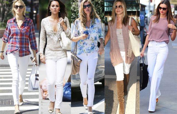 Белые джинсы в теплое время