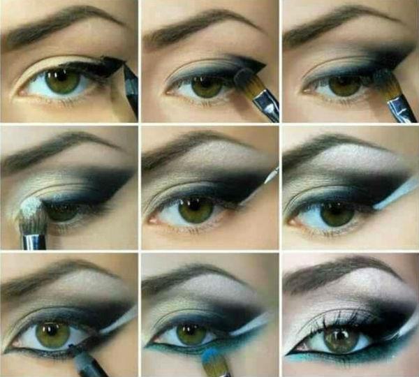 Смоки айс для зелено карих глаз