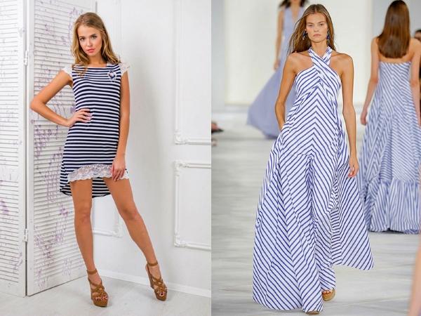Вечернее платье в морском стиле