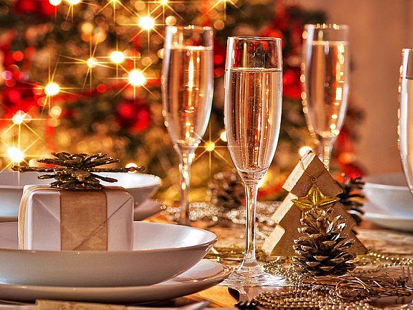 убранство новогоднего стола