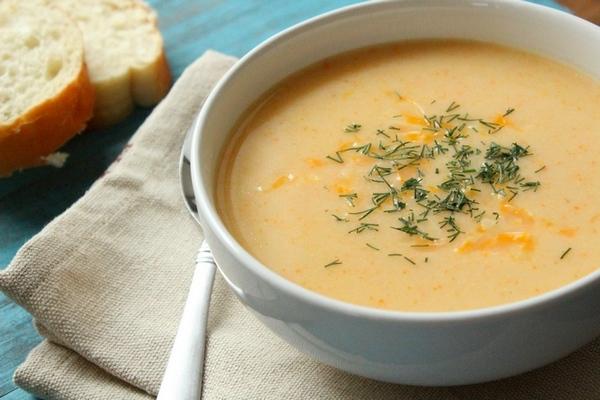 Суп с плавленым сырком в мультиварке