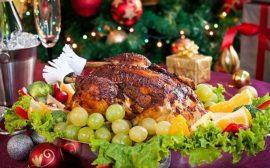 новогодние блюда на столе