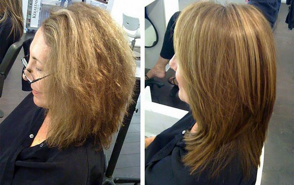 Результат до и после