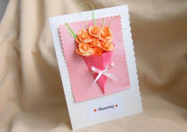 Букет на открытке