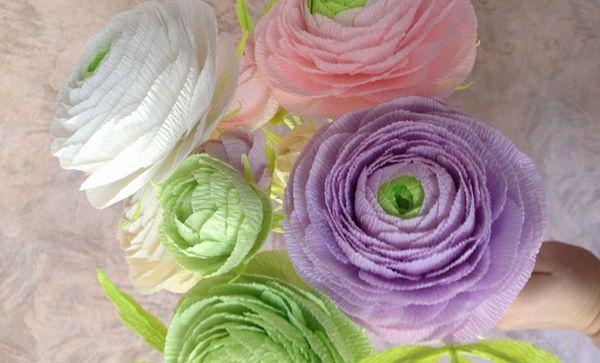 Цветок из гафрированной бумаги