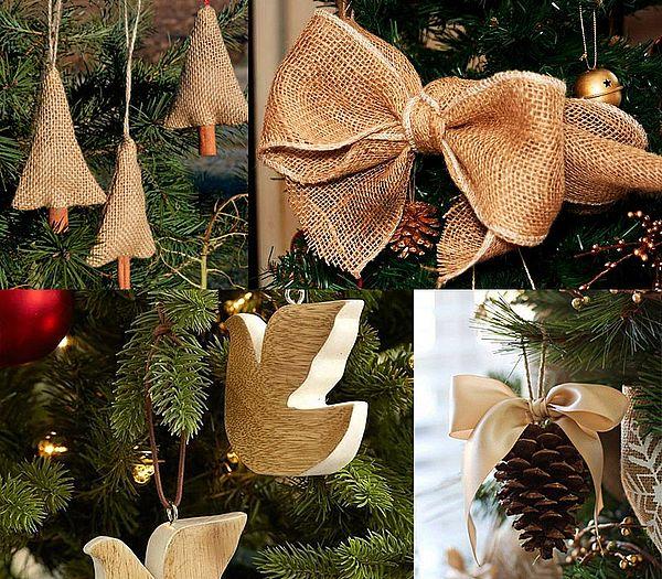 экостиль для новогоднего дерева