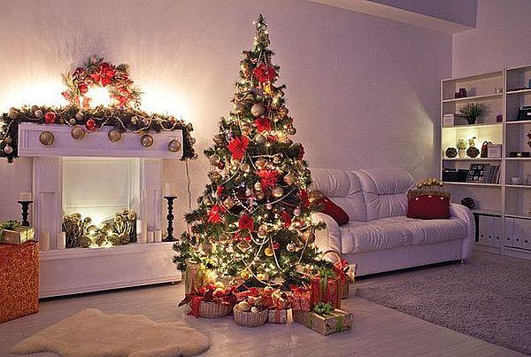 европейский стиль украшения новогоднего дерева