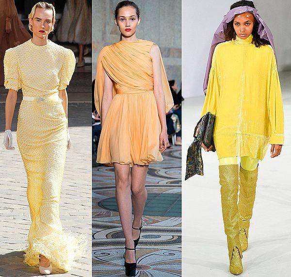 наряды желтых оттенков