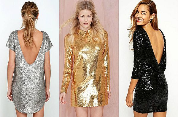 новогодние короткие платья