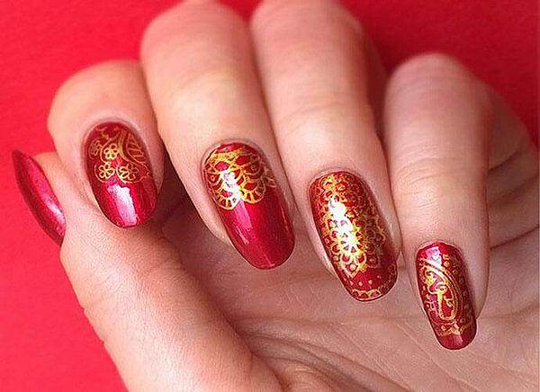 длинные округлые ногти