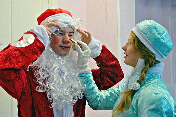 подготовка Деда Мороза и Снегурочки