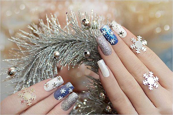 дизайн ногтей для Нового года 2019