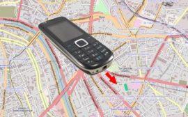 Телефон на карте