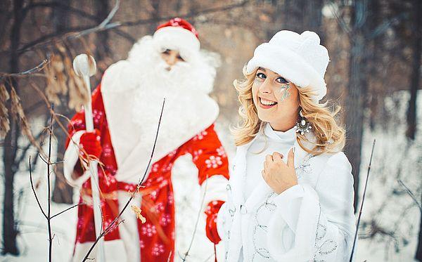выбранный Дед Мороз и Снегурочка