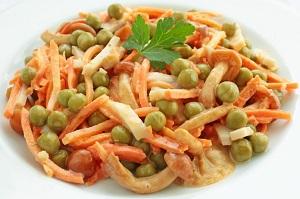 Салат изветчины игорошка