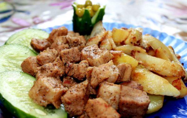 Сытное блюдо с мясом