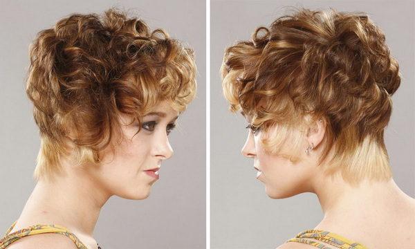 Вариант прически на короткие волосы