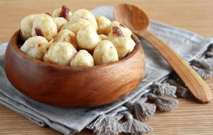Ньокки с печенкой и картошкой