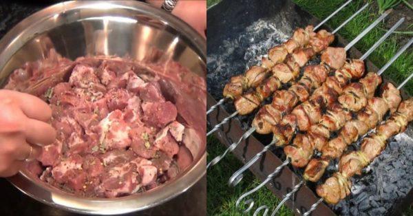 Быстрый маринад для свиного шашлыка