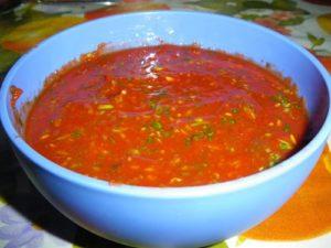 Супер быстрый маринад с томатным соком