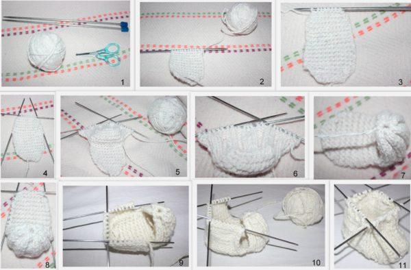 Вязание пинеток спицами