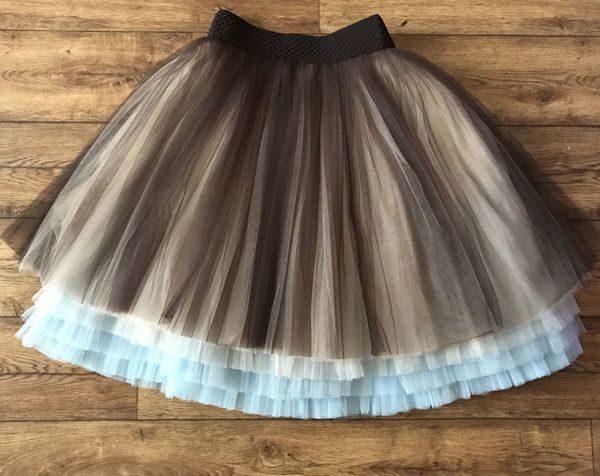 Многослойная юбка