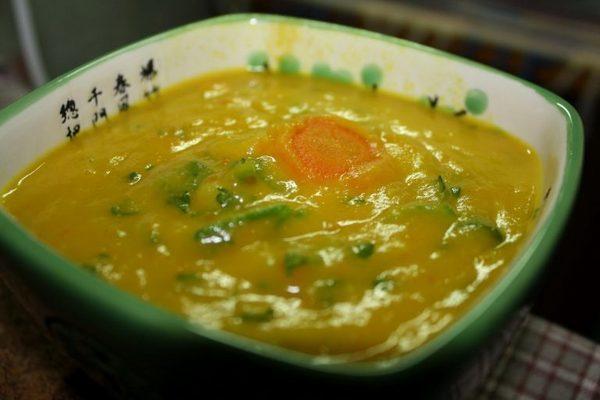 Протертый овощной суп в меню