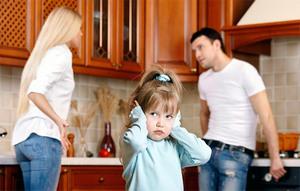 Ребенок при ссоре родителей