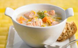 Сливочный суп изсемги