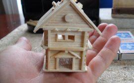 Клееный спичечный дом