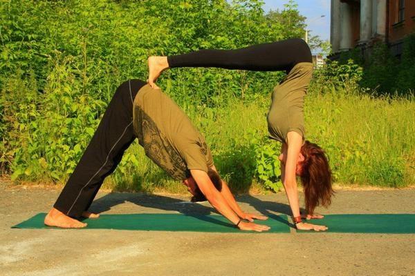 Йога челлендж на двоих