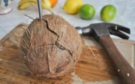 Как самому открыть кокос