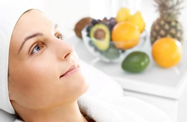 очистка лица фруктами