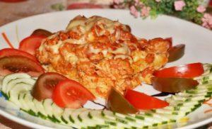 сытное блюдо с томатами
