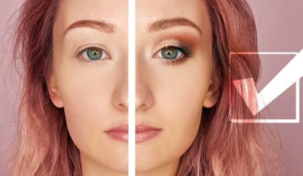 результат правильного макияжа