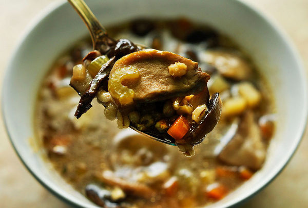 Рецепт с сушеными грибами