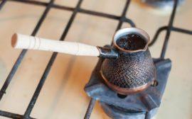 кофе на газовой плите