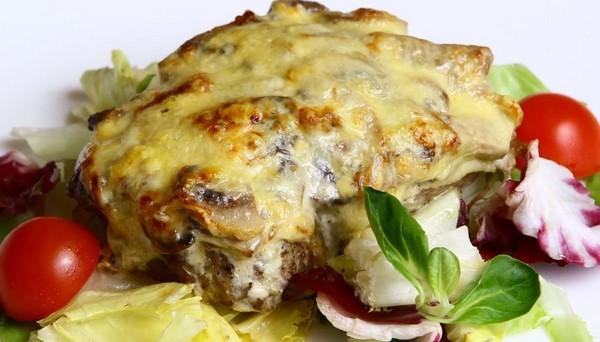сытное блюдо с грибами