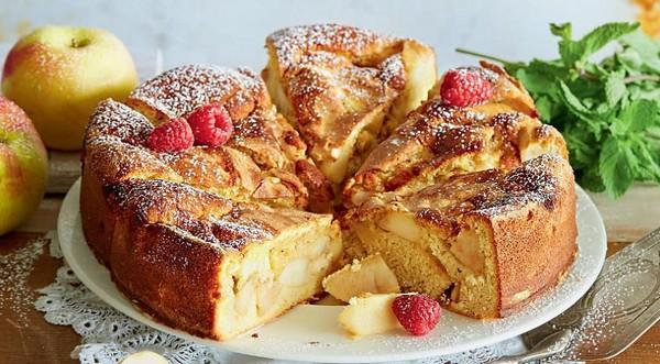 яблочный воздушный десерт