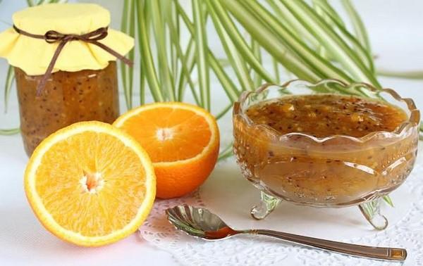 яркий десерт с цитрусами