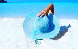 солнечный загар на пляже