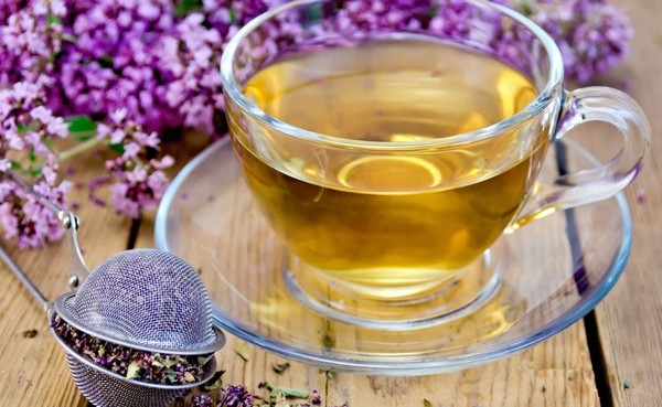 зеленый чай с тимьяном
