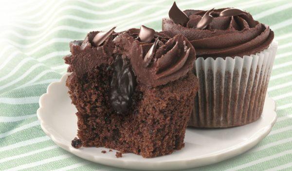 Маффины с тягучим шоколадом